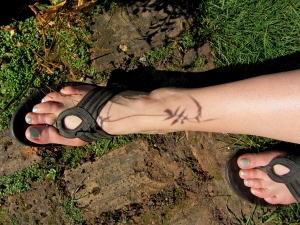 pattern of jasmine on my skin