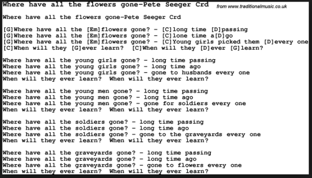 Lyrics to where have all the flowers gone