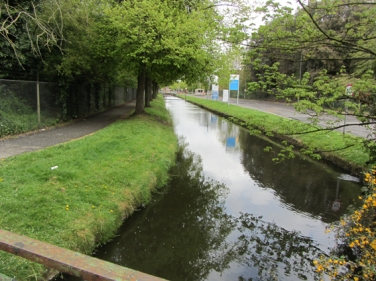 The Duke's River goes through Mogden Sewage Works