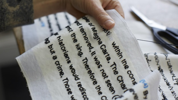 Magna Carta an embroidery Cornelia Parker