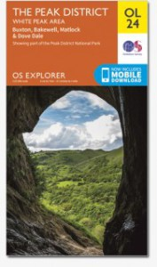 Ordnance Survey ‐ Explorer OL24 Scale 1:25 000 Map of The Peak District - White Peak Area