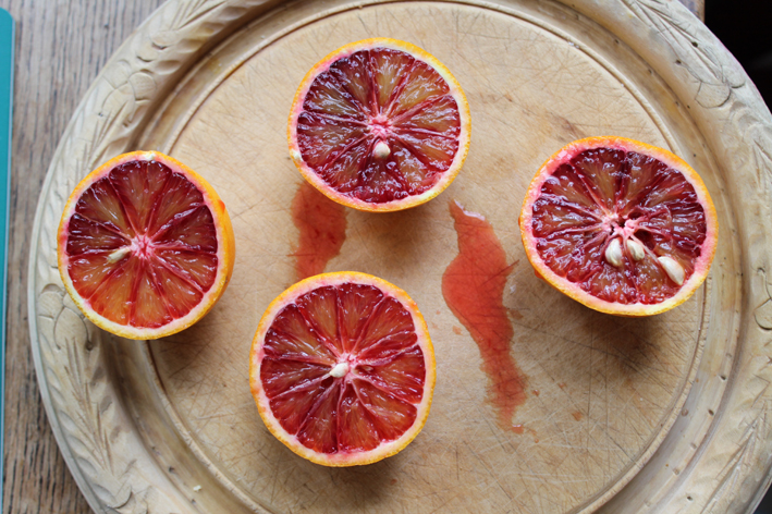 Blood oranges opened