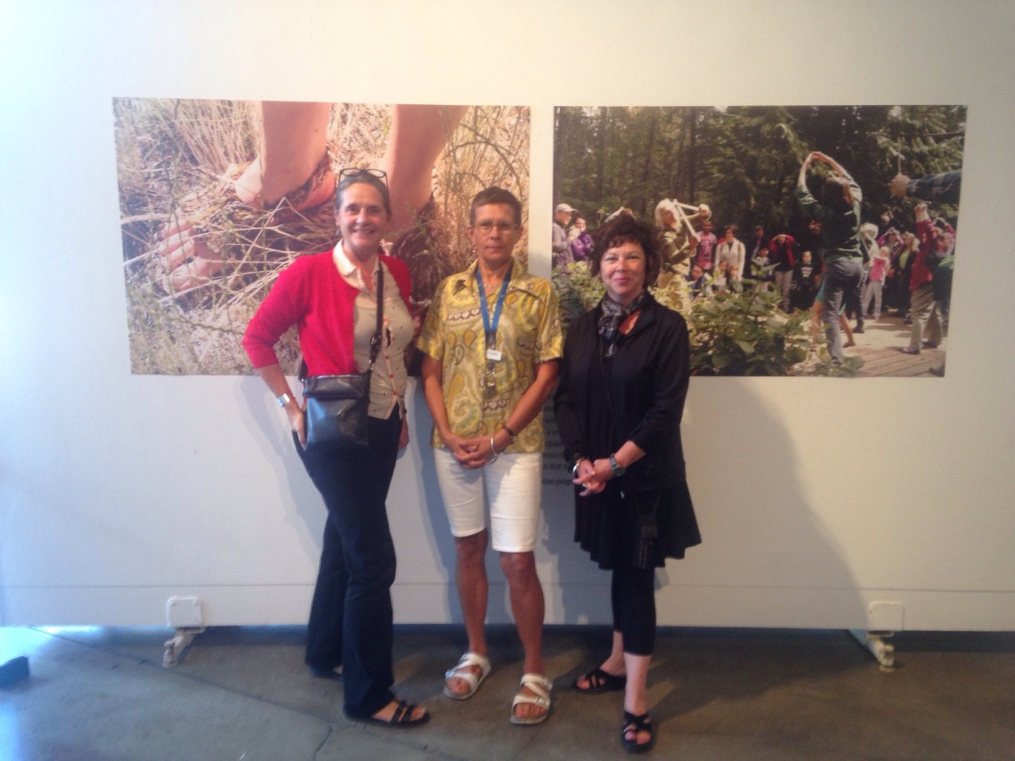 Sue Palmer, Cyndy Chwelos + Danita Noyes, Arts Programmers with Vancouver Park Board