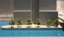Canary Wharf model Trees in line for web